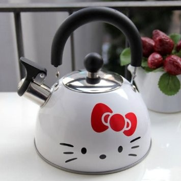 Amazon Com Hello Kitty Stainless Steel Kettle Water Jug Boiler Pot White 1pc