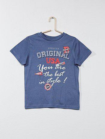 Camiseta estampada de algodón puro - Kiabi  85378e81f461