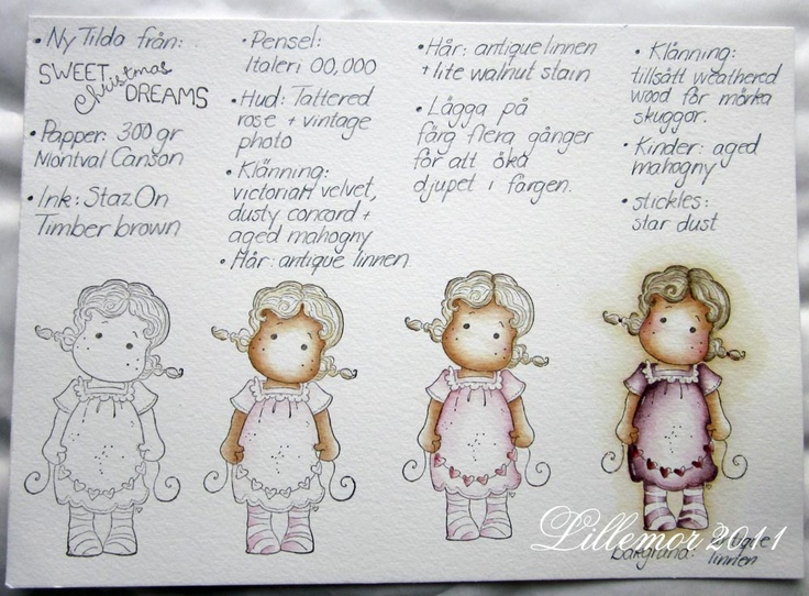 .: My way of colouring...  Distress Inks