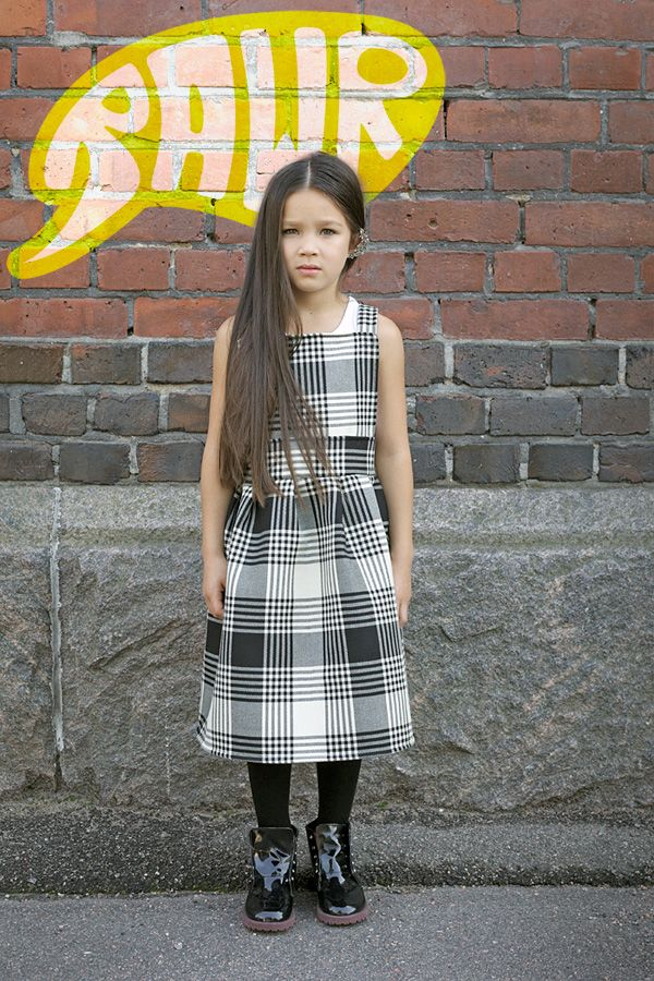 Jade wearing dress made by Hanna Juutilainen with beautiful fall fabrics found at Eurokangas, shoes, ear cuffs and tights by H Little Punks are BACK! - RAWR Magazine