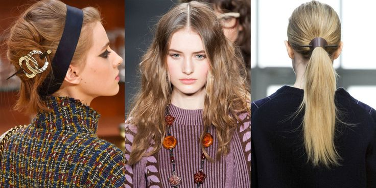 The classic French twist gets a modern makeover, bohemian waves are here to stay and leather is the new gold. Here, we break down the nine hairstyle trends you're going to want to know from the fall runways.