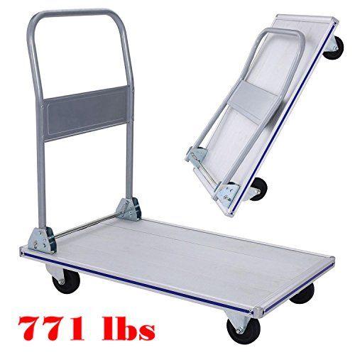 b4084d2357a0 Hindom 771 Lbs Folding Platform Truck, Heavy Duty Flatbed Cart with ...