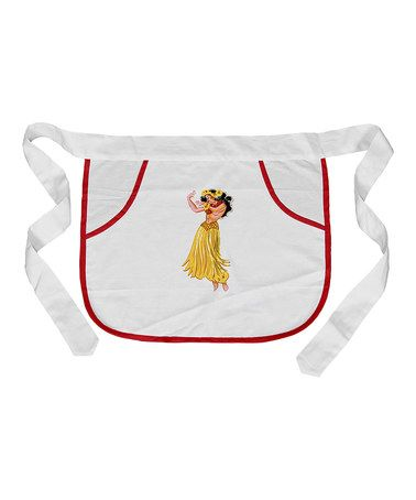 Take a look at this Hula Pocket Apron by Red and White Kitchen Company on #zulily today!
