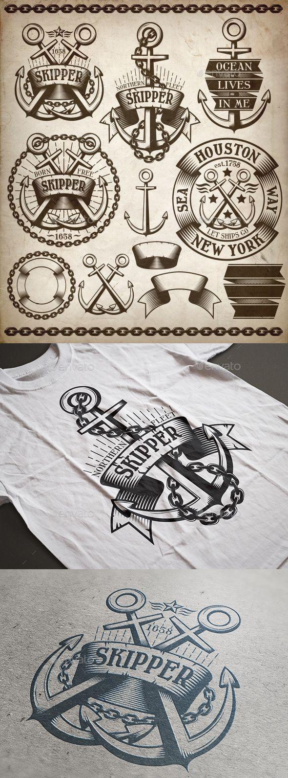 Anchor Logos Kit PSD, Vector EPS. Download here: https://graphicriver.net/item/anchor-logos-kit/14617391?ref=ksioks