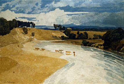 River and Castle Lanscape, by John Sell Cotman