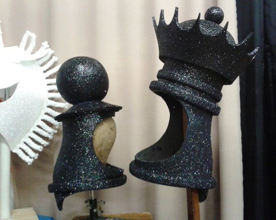 Rook Castle Chess Headdress. Handmade. Choose: king knight by ...