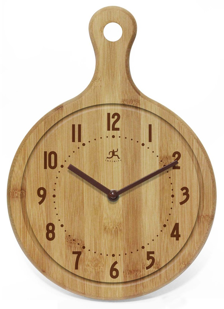 Cool Kitchen Clocks Part - 26: Bon Appetit! Bamboo Clock By Infinity Instruments. Eating Directly Off The  Board Is Not