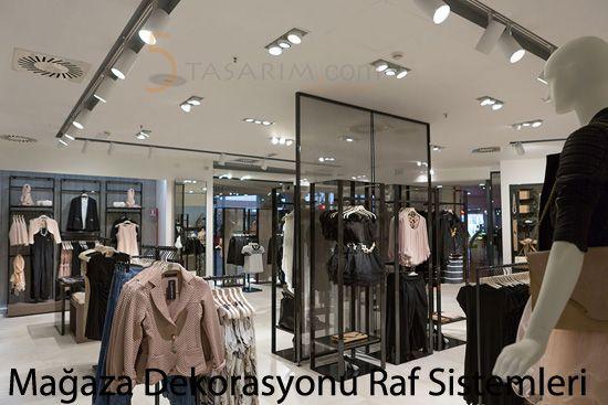ankara mağaza dekorasyonu raf sistemleri
