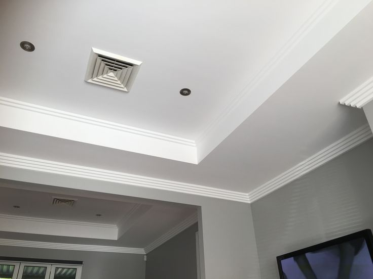Ceiling recesses with 2 and  4 step cornices
