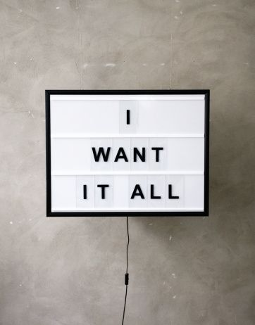 BxxLght I Want It All | Artilleriet | Inredning Göteborg