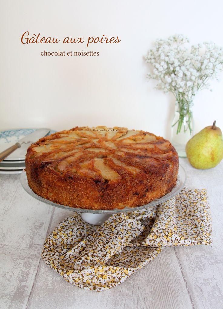 Gâteau aux poires - chocolat - noisettes