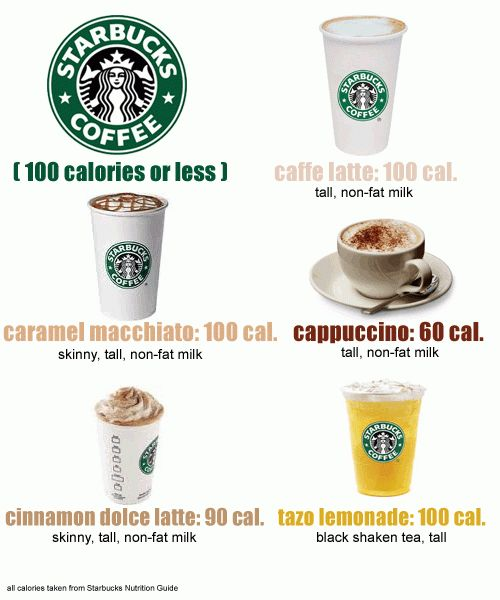 Starbucks items under 100 calories or Less (other than the usual suspects, black coffee or green tea)