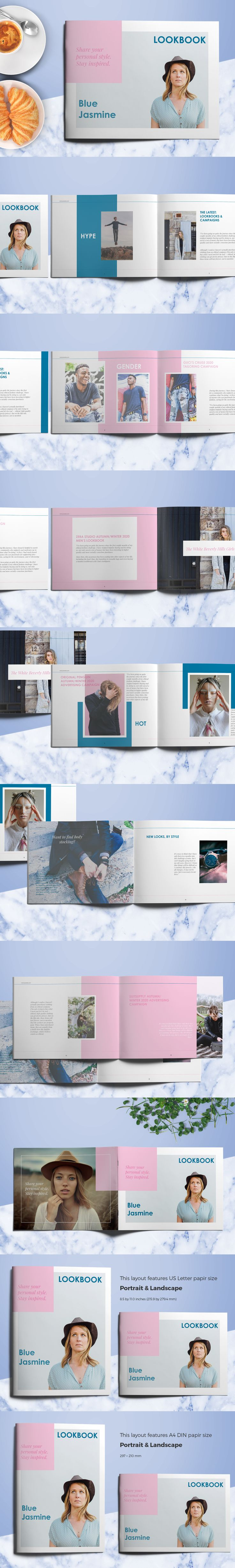 Fashion Lookbook is a fashion and lifestyle template for Adobe InDesign