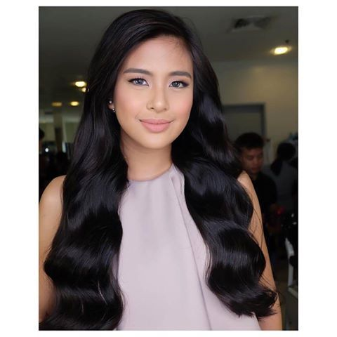Gabbi Garcia​ as Alena in Encantadia ! #beautifulfogorgeous hair day for this lovely young lady at Sunday Pinasaya❤️ and hair by our client love @markanthonyrosales using #keirahairextensions 16 inches long Human Hair Clip-ons in Black , restyled in soft and neat waves❤️Thanks loves Gabbi and Mark❤️ #encantadia #encantadia2016 ❤️❤️❤️