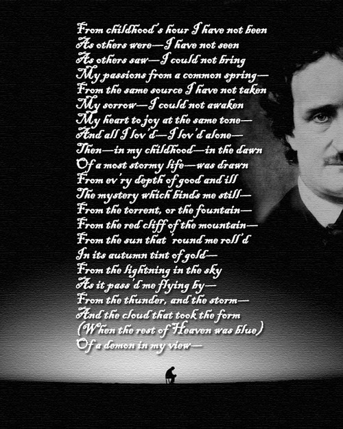 literary analysis edgar allan poe the The cootie catcher or fortune teller looks just like edgar allan poe when you open his mouth the fun will begin each section has questions about mood, characterization, diction, and theme.