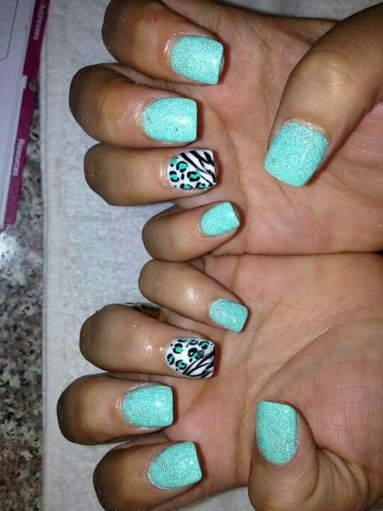 Double animal print nails