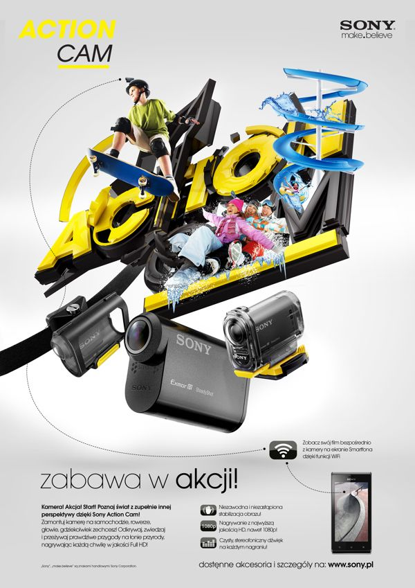 Sony Action Cam (creative concept) by Agencja Kreatywna Pompidou , via Behance