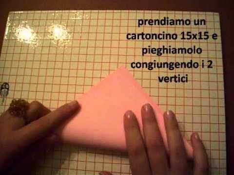 ▶ tutorial porta confetti origami - YouTube