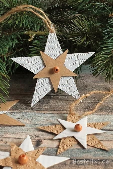 Weihnachtsbaumanhänger - Pappsterne