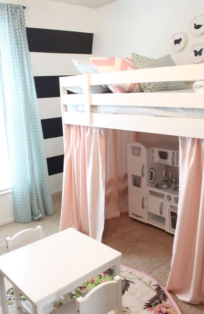 love the play space under the bed could act like a stage.... I would want like beanbags and a curtain just to sit and talk or read or something though