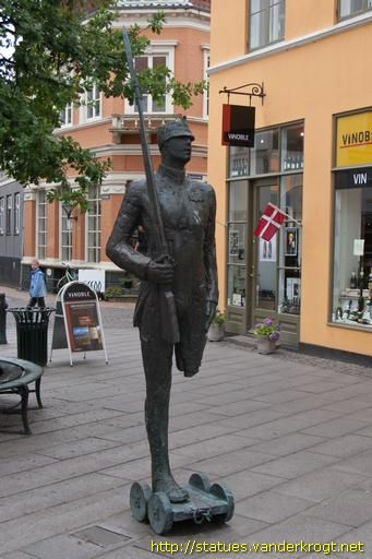 H.C. Andersen's fairy tale The Steadfast Tin Soldier, Odense, DENMARK