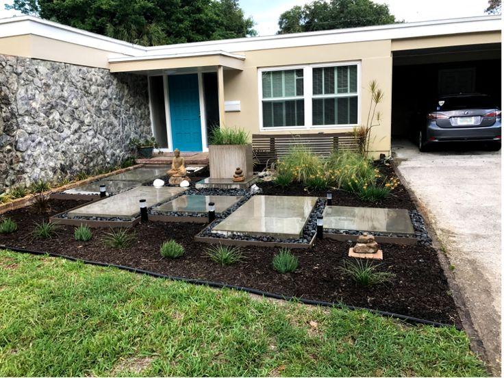 38x72 Cladlite Concrete Hurricane Condenser, landscaping