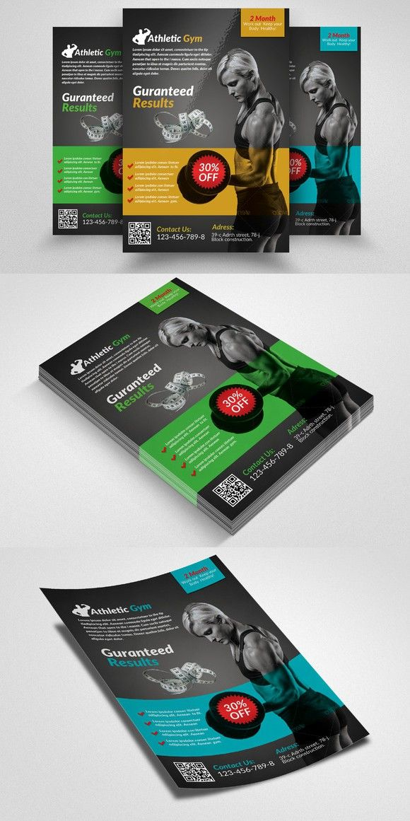 Best Posters And Flyers Images On   Fitness Flyer