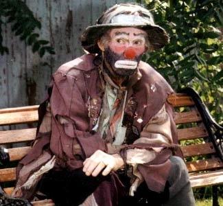 Emmett Kelly as Weary Willie the Hobo Clown