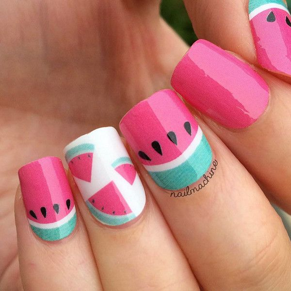 Adorable Nail Designs: 25+ Best Ideas About Watermelon Nail Art On Pinterest