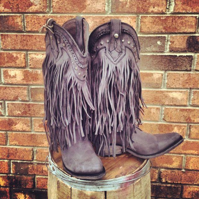 Frindge Stivali Ragazza Del Sud - Black $349.99! #SouthernFriedChics - I love these so much...