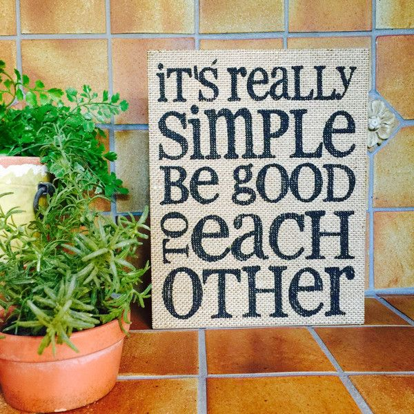 Inspirational Quotes On Wood: Inspirational Quote Sayings On Burlap Wood Shadow Box Sign