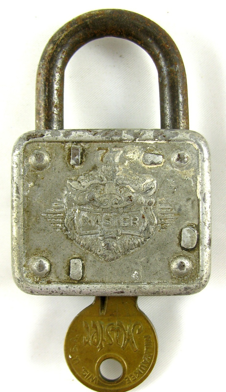 Master Lock Co Vintage Master Padlock 77 American
