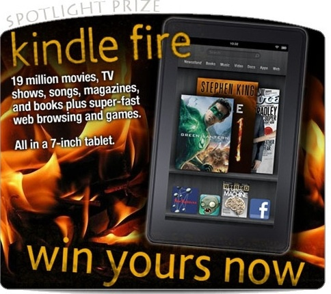 Win your Kindle Fire for Free
