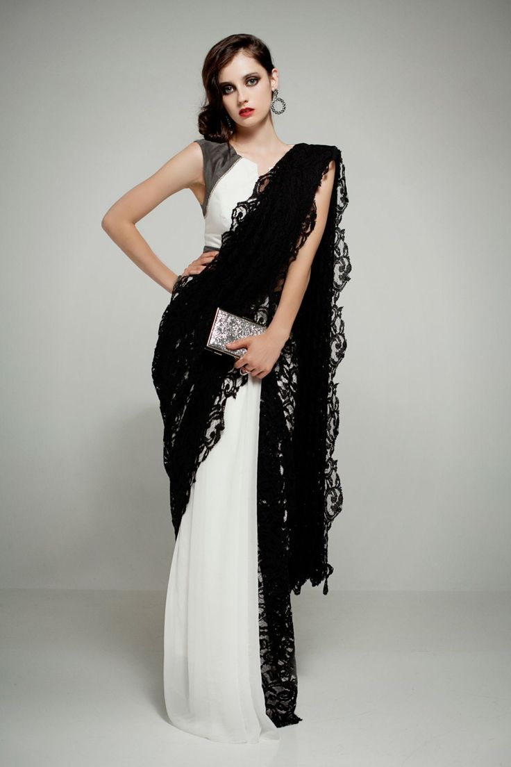 Holly G. Lace & Chiffon Saree