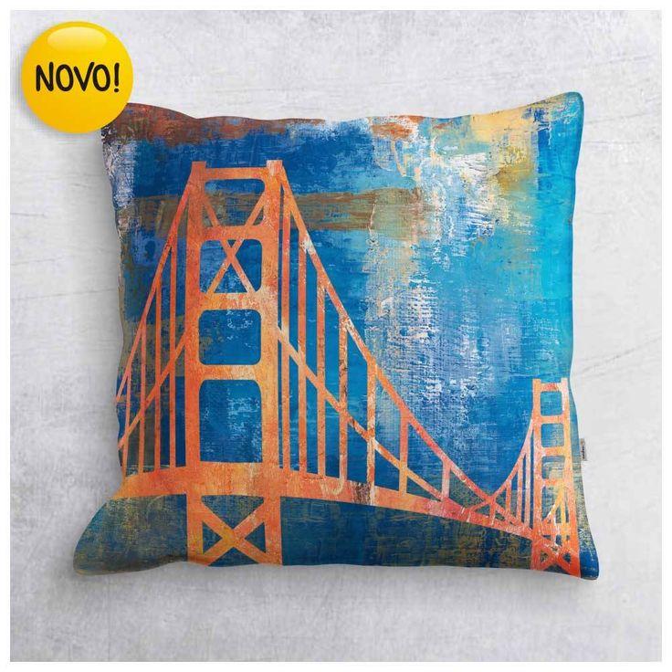 Capa de Almofada - Golden Gate - São Francisco - EUA ALM009A