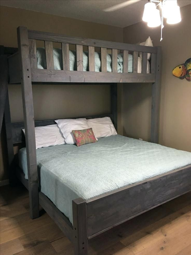 Image Result For Loft Bed With Two Twin Beds Underneath Plans