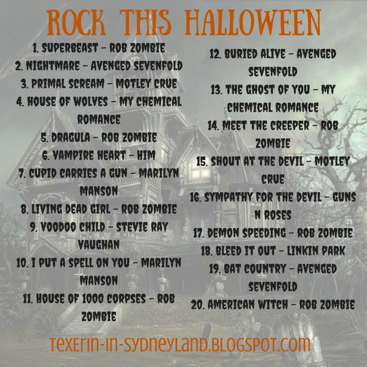 rock this halloween playlist
