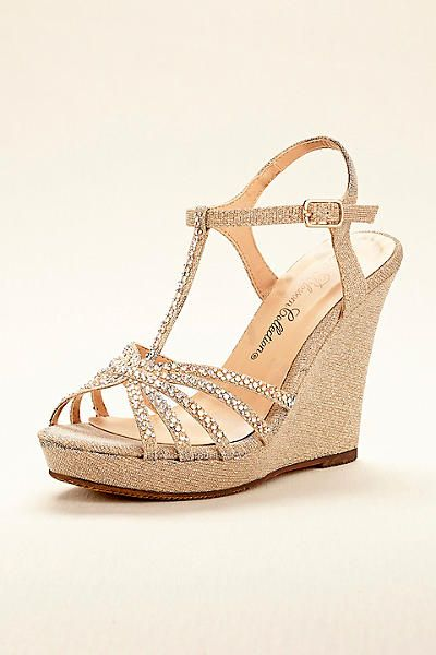 High Heel T-Strap Wedge Sandal ALINA11