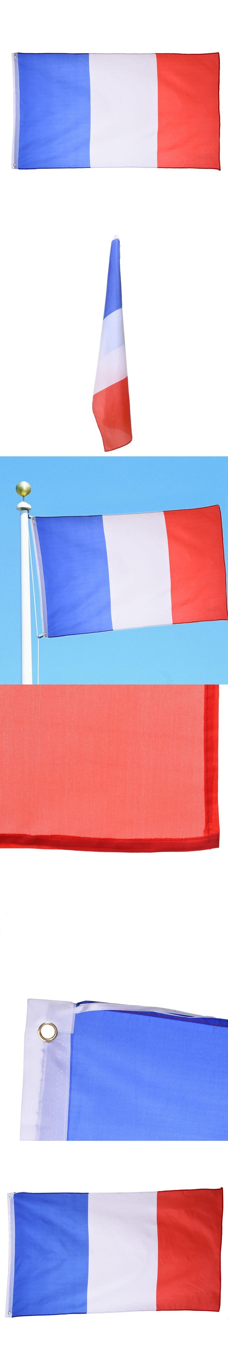 France National Flag Festival Home Decoration Office Flag Banner for Activity Parade the Olympic Games European Cup World Cup $5.52