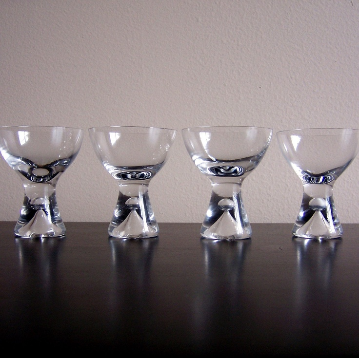 Iittala Tapio Wirkkala Bubble Stem Cocktail Glasses