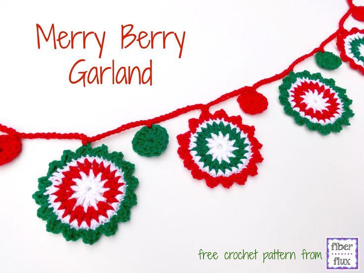 Fiber Flux: Free Crochet Pattern...Merry Berry Garland!