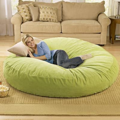 giant bean bag chair lounger heavens awesome and be awesome. Black Bedroom Furniture Sets. Home Design Ideas
