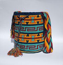 Aqua-The Wayuu Collection- Wayuu Bags Australia