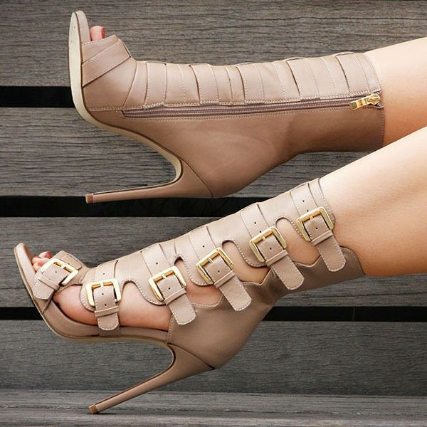 Nelly Bernal Lola Buckle Booties