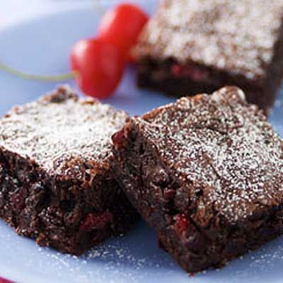 Chewy Chocolate chip brownies with cranberries. #recipe