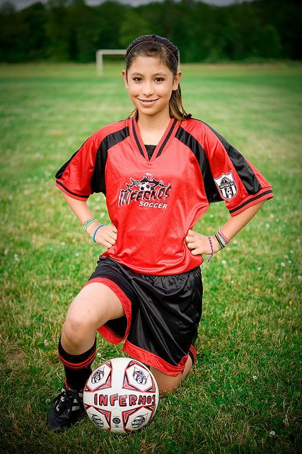 Great soccer player pose