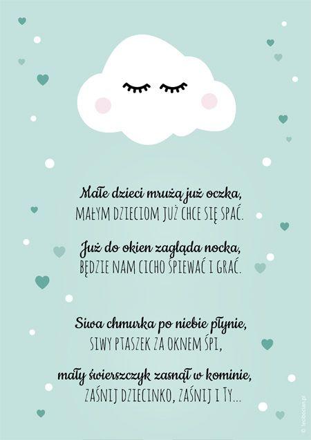 Plakat na dobranoc - Chmurka