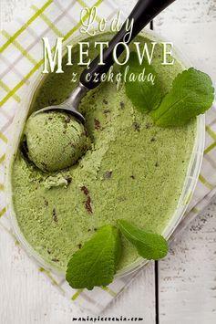 Ekspresowe lody miętowe z czekoladą (bez jajek i maszyny) / Mint & Chocolate Ice Cream (no eggs and ice cream maker)