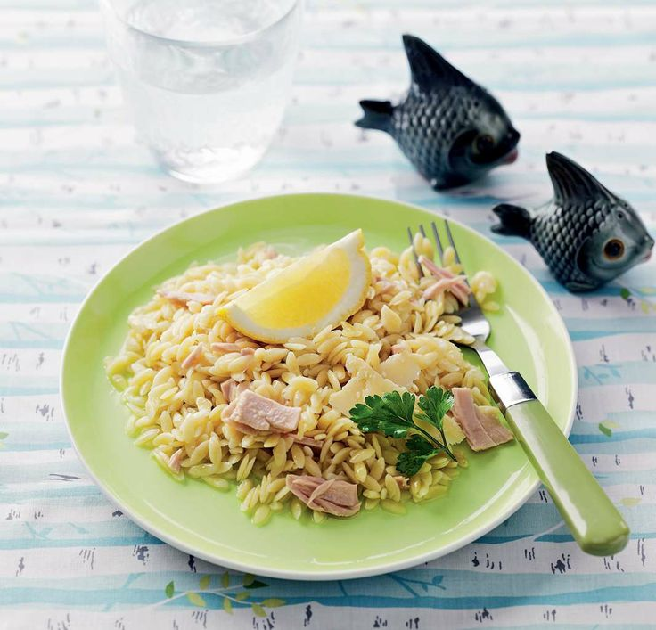 Lemon and tuna orzo recipe by Sabrina Parrini from the book Half-Hour Hungries | Cooked