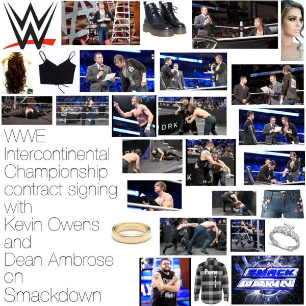 WWE Intercontinental Championship contract signing with Kevin Owens and Dean Ambrose on Smackdown